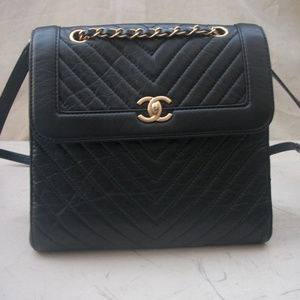 Authentic CHANEL Chevron Backpack bag Gorgeous